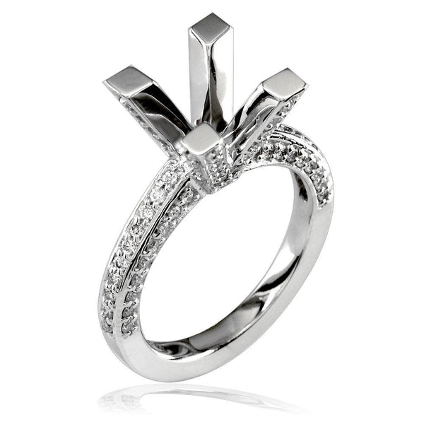 Diamond Engagement Ring Setting, 0.81CT in 14K White Gold
