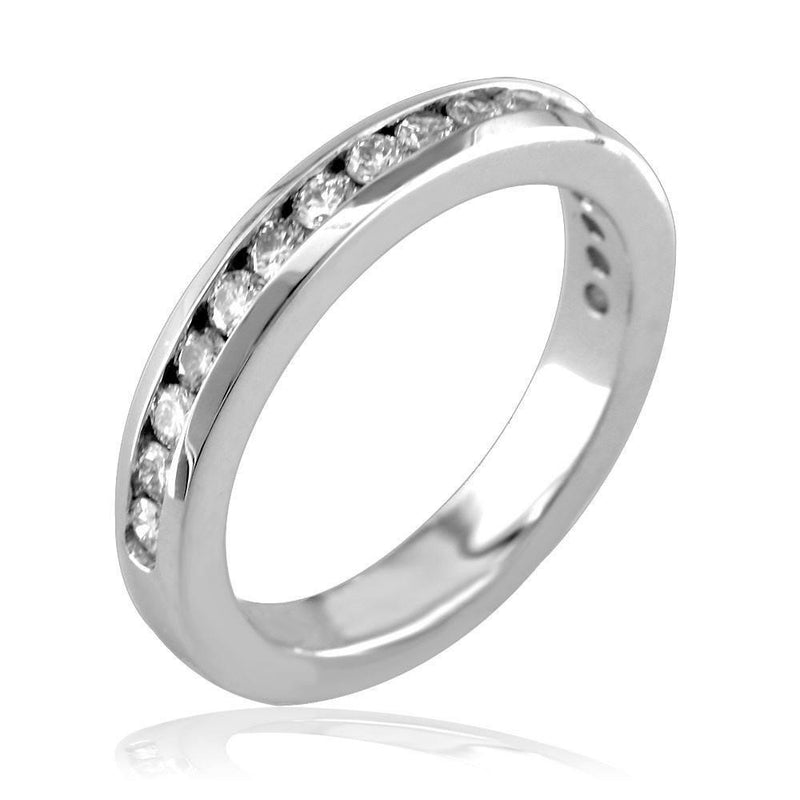 Channel Set Wedding Band E/W-Z3349