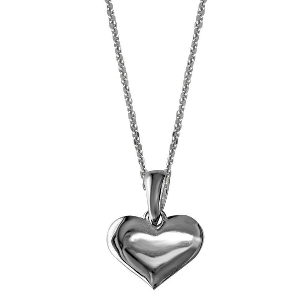 Small Heart Charm and Chain in Sterling Silver