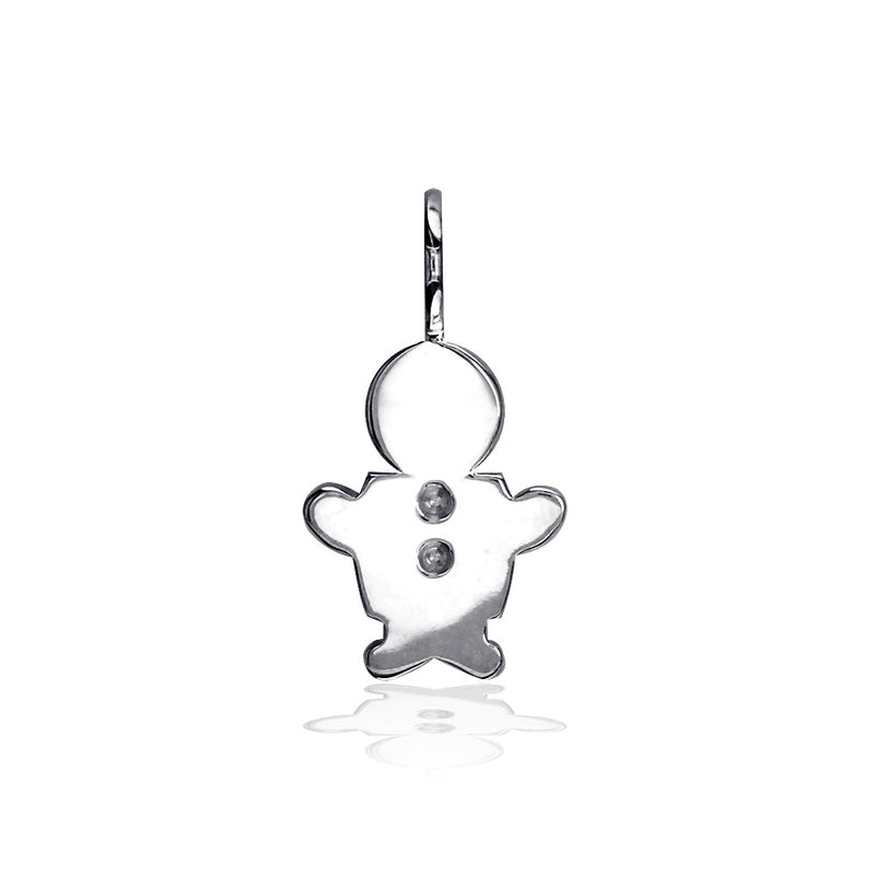 Classic Kids Small Sziro Boy Charm for Mom, Grandma in Sterling Silver