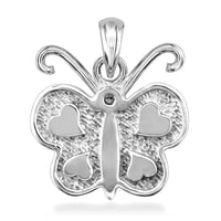 Diamond Butterfly Pendant in 14K