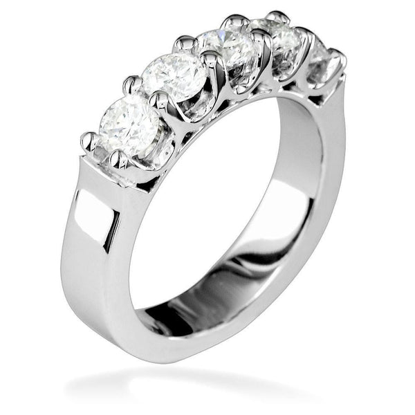 Shared Prong Diamond Band, 1.15CT