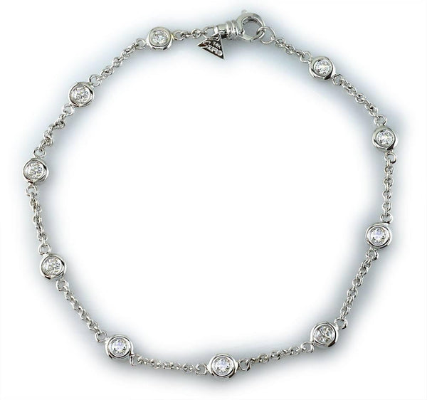 Diamond Link Anklet, 1.50CT
