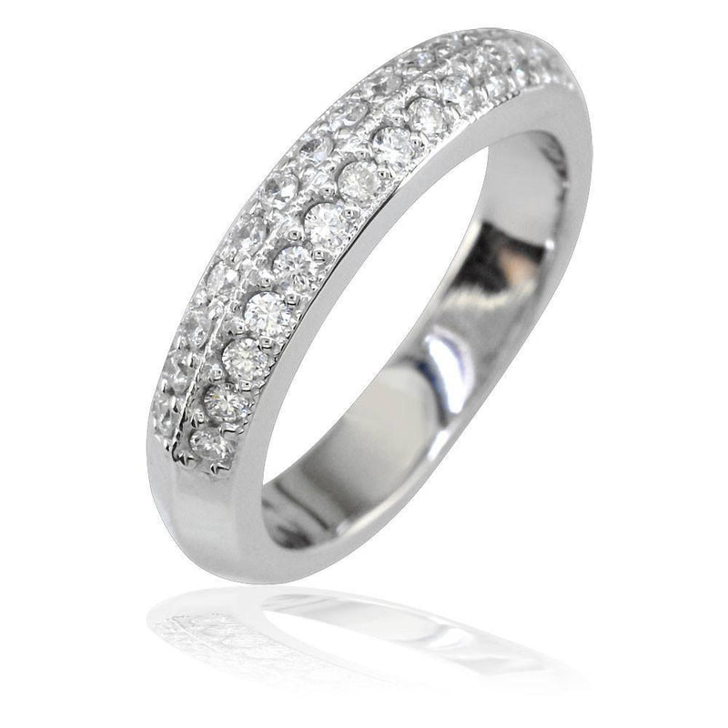 Ladies 2 Row Diamond Band, 0.35CT