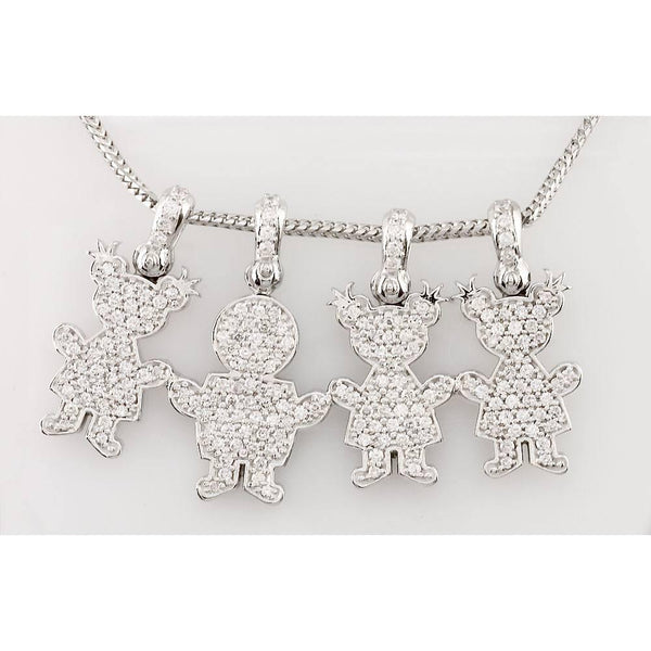 Diamond Kids Sziro Boys and Girls Family Necklace 2
