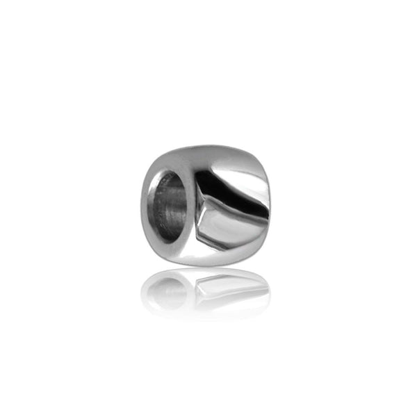 Wide 18K White Gold Spacer, Roundel