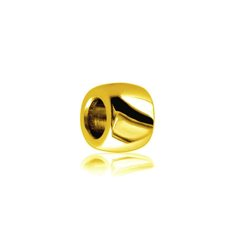 Wide 18K Yellow Gold Spacer, Roundel