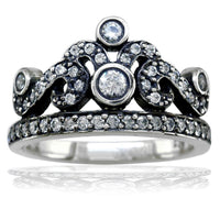 Cubic Zirconia Tiara Ring in Sterling Silver