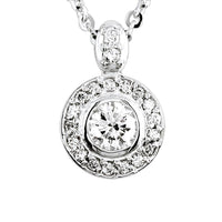 Diamond Halo Pendant and Chain in 18K 1.1CT Total, 0.70CT Center