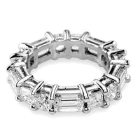 Round, Emerald Cut, and Radiant Cut Diamonds Eternity Band, 4.25CT in 18k White Gold
