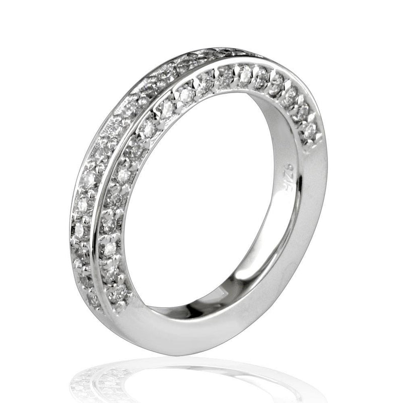 Diamond Wedding Band in 18K White Gold, 0.60CT