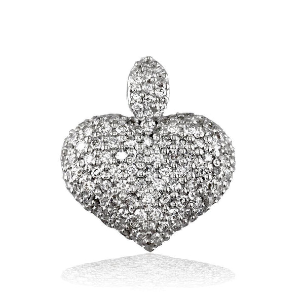 Diamond Heart Pendant, 1.25CT