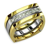 Mens Two-Tone Diamond Ring in 14K, 0.42CT
