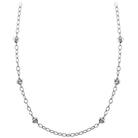 Diamond Hearts Chain, 0.12CT