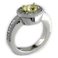 Yellow Oval Diamond Ring