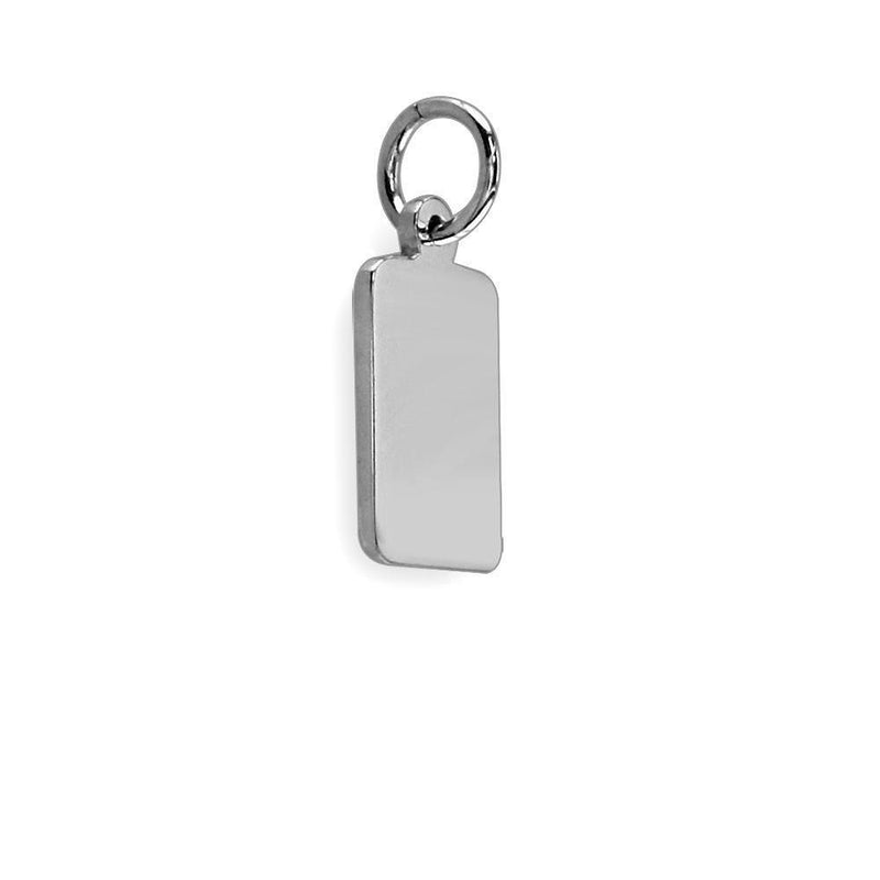 Mini Message Tags in 14K White Gold