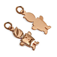 Small Belly Kids Sziro Boy 18k Pink Gold Charm for Mom, Grandma