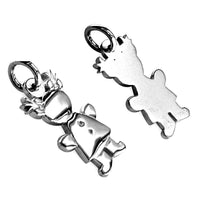 Small Belly Kids Sziro Girl Sterling Silver Charm for Mom, Grandma