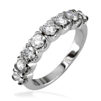 Ladies Round Diamond Band in 14K, 0.90CT Total