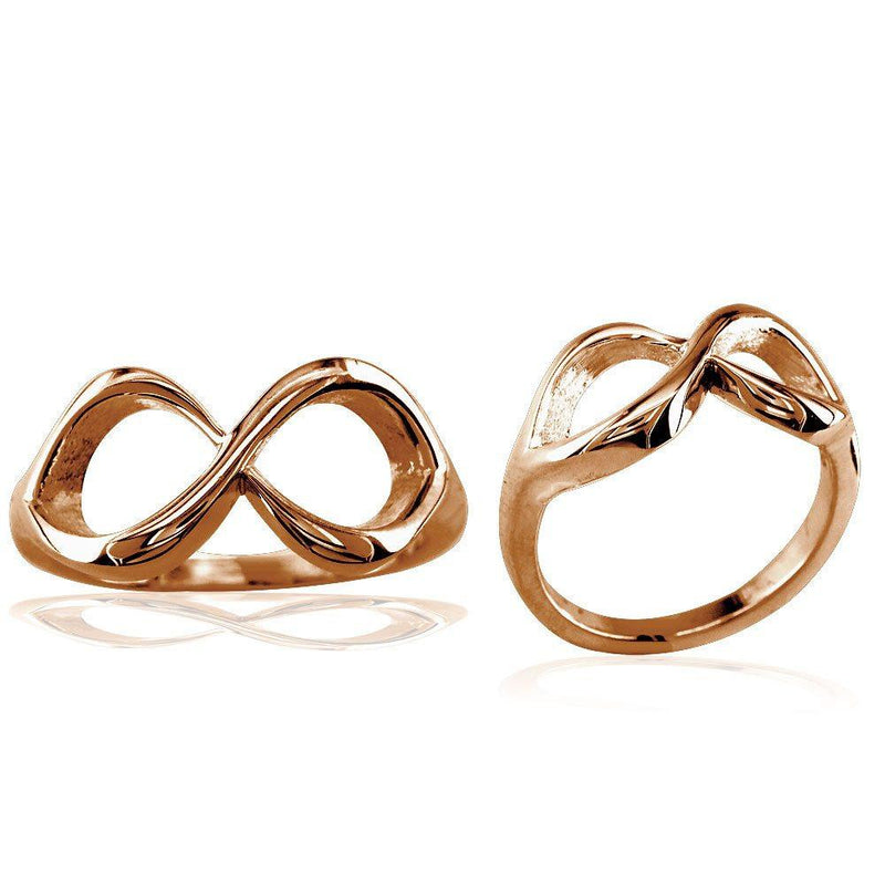 Classic Infinity Ring, 10mm Wide in 14K Pink Gold