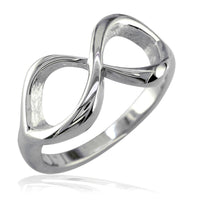 Classic Infinity Ring, 10mm Wide in 14K White Gold