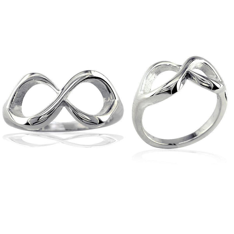 Classic Infinity Ring, 10mm Wide in Sterling Silver