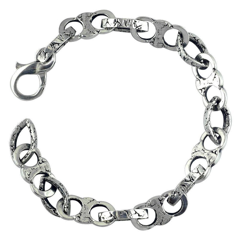 Stone Links Sterling Silver Bracelet