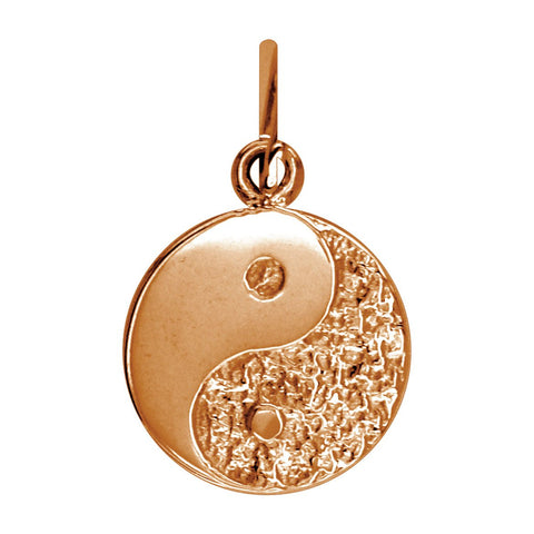 Mini Yin and Yang Charm in 14K Pink Gold