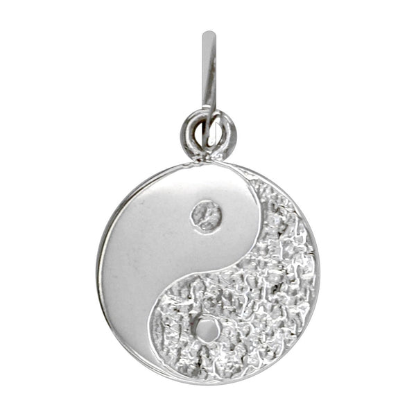 Mini Yin and Yang Charm in 14K White Gold