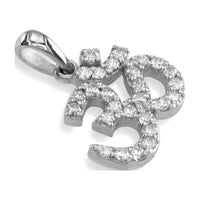 Sziro Sparkles Sterling Silver and Cubic Zirconia Yoga Ohm, Om, Aum Charm