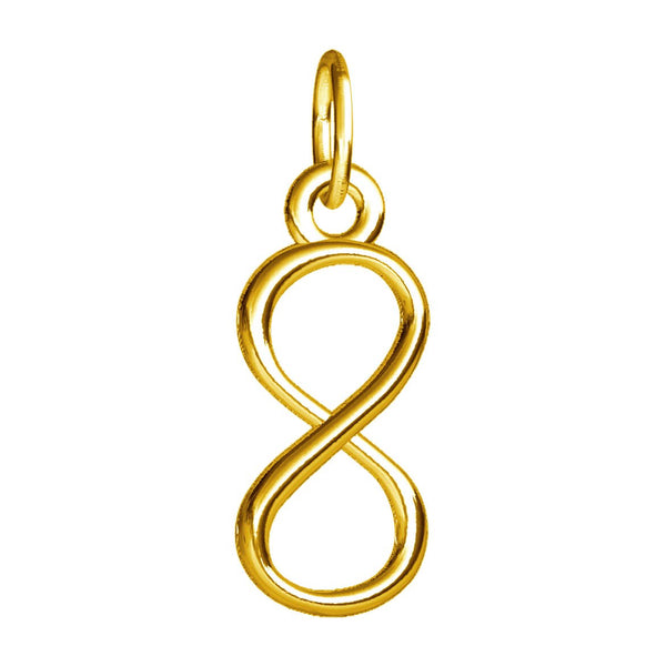 Small Infinity Symbol Charm in 14k Yellow Gold