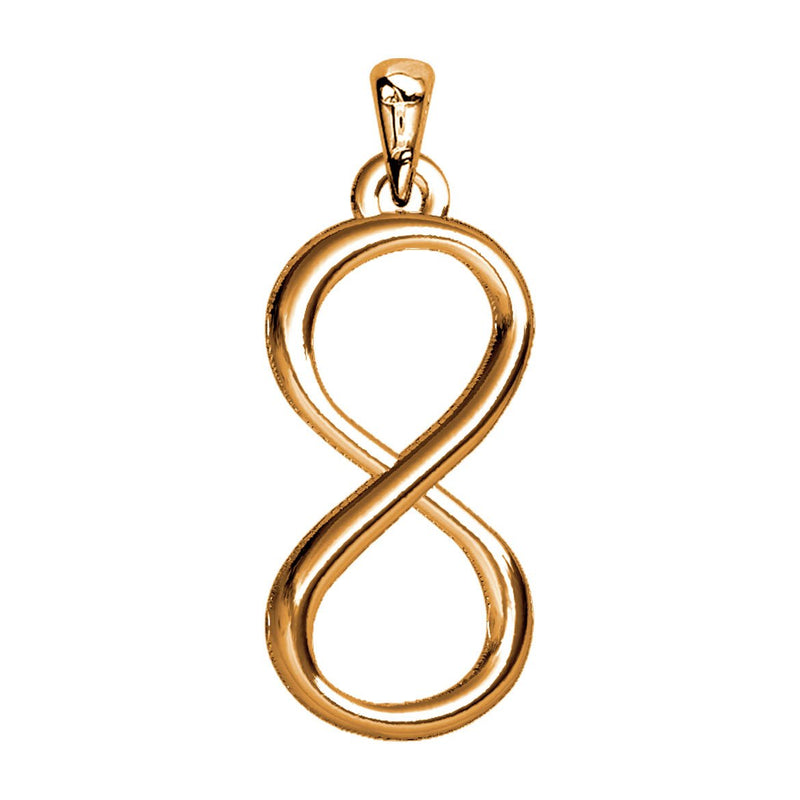 Large Infinity Symbol Charm,9mm in 14K Pink Gold