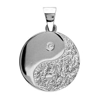 Medium Yin and Yang Charm in Sterling Silver, Two-Sided, 21mm