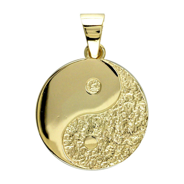 Medium Yin and Yang Charm,Reversible,21mm # 4694 in 14K yellow gold