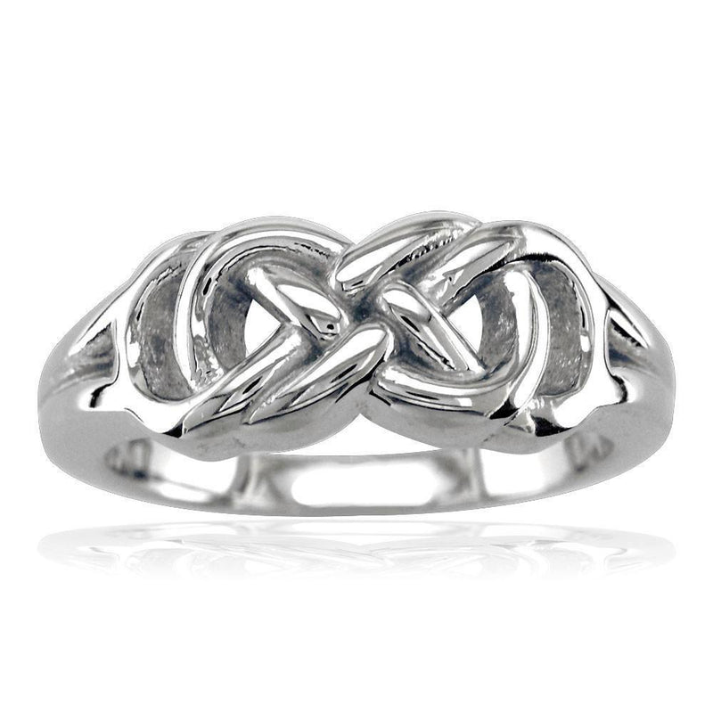 Thick and Heavy Double Infinity Ring, 7.5mm Wide in Sterling Silver