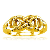 Thick and Heavy Double Infinity Ring, 7.5mm Wide in 14k Yellow Gold
