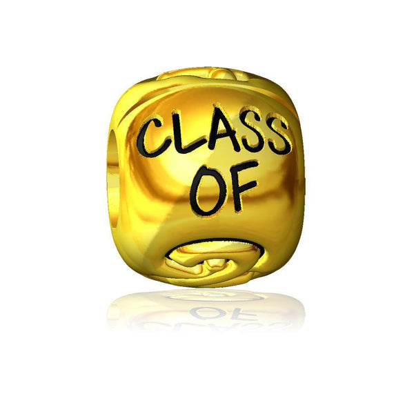 Class Of 2015 Bead in 14k Yellow Gold