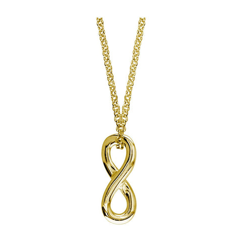 Small Sliding Infinity Charm and Chain,18 Inches Total #4892 in 14K yellow gold