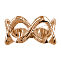 Wide Weaving Infinity Band, Halfway, 10mm in 14K Pink Gold