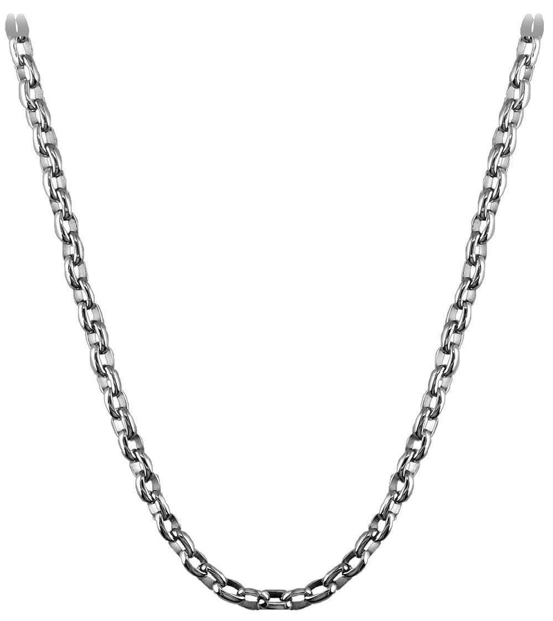 "Handcrafted Rolo Chain, 24"" in 14K"