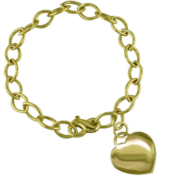 Bracelet with Flat Heart Charm