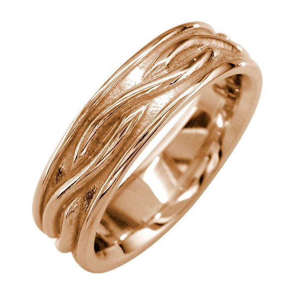 Infinity Wedding Band in 14K Pink Gold, 6mm