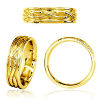 Infinity Wedding Band in 14K Yellow Gold, 6mm