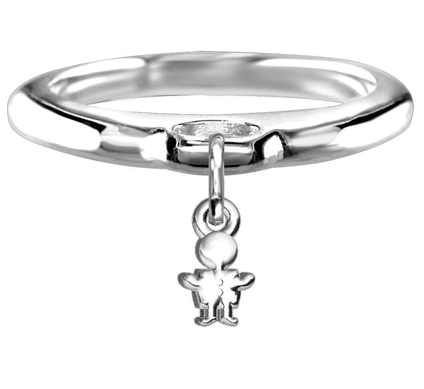 Chubby Boy Charm Ring in Sterling Silver