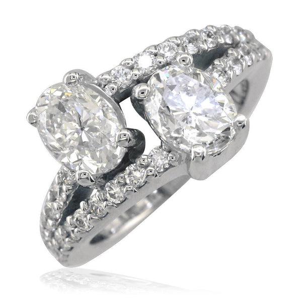 2 Diamond Ovals Ring LR-K0535