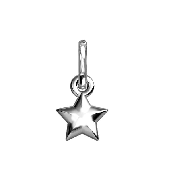 Chubby Star Charm in Sterling Silver