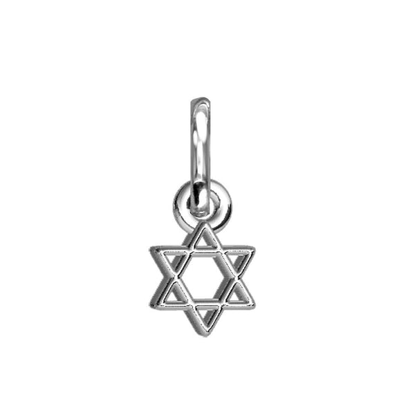 Chubby Star Of David Charm in Sterling Silver