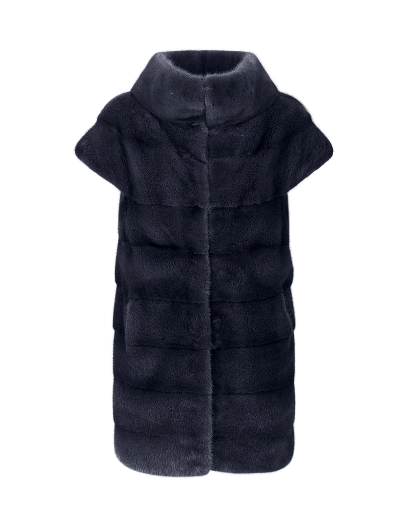 Zoe - Short Sleeved Mink Coat