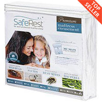 SafeRest Premium Hypoallergenic Waterproof Zippered Certified Bed Bug Proof Mattress Encasement