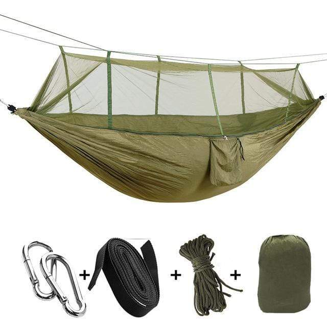 Impact Shop Green 1-2 Person Portable Outdoor Camping Hammock with Mosquito Net By Impact Shop